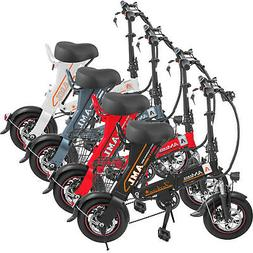 "12"" 250W Folding Electric Bike 36V8AH Battery 22Mph Speed 22"