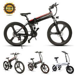 "Samebike 14 ""20"" 26"" Folding Electric Bicycle City E-Bike 25"