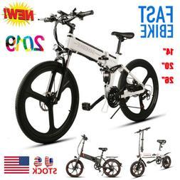 """14"""" 20"""" 26"""" Folding Electric Bike City Mountain Cycling Bicy"""