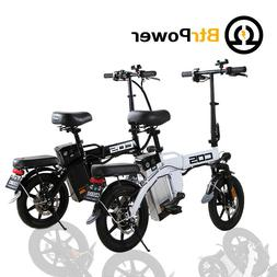 "BtrPower 14"" 350W Motor Folding City Electric Bike 48V 14AH"