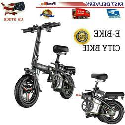 14'' Electric Bike Folding Commuter Bicycle City Ebike 48V L