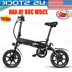 "14"" Folding Electric Bike 250W 36V Mountain Cycling E-Bike 1"