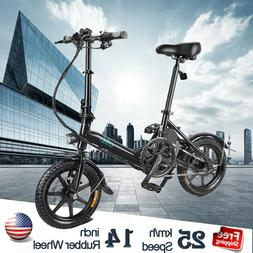 "14""Folding Electric Bike 250W 36V Mountain Cycling E-Bike 5."