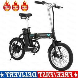 "Ancheer 16"" 250W Folding Electric Bike E-City Bicycle 8A Bat"