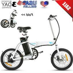 16 Folding Electric Commuter Bike,City Ebike 8Ah Removable L