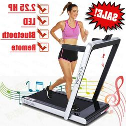 ANCHEER 2.25HP Folding 2 in 1 Smart Electric Treadmill with