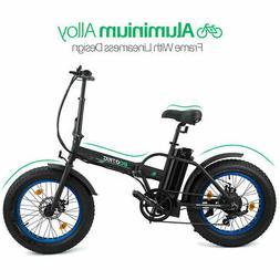 "ECOTRIC 20"" 500W 12Ah Folding Electric Bicycle e-Bike Fat ti"