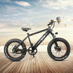 """NAKTO 20"""" Fat Tire Electric Bike 300W Montain E-Bike 48A 8Ah"""