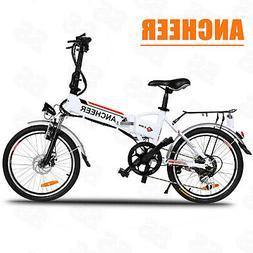 "ANCHEER 20"" Folding Electric Mountain Bike Bicycle E-City &"