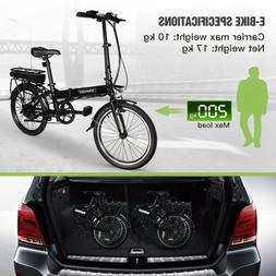 Bikemate 20 Inch Folding Electric Moped Bike MTB 250W 25KM/H