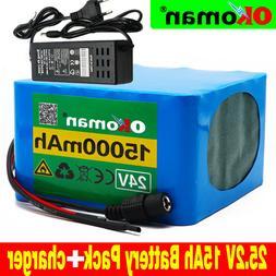 24V15AH Li-ion Battery Volt Rechargeable Bicycle 500W E Bike