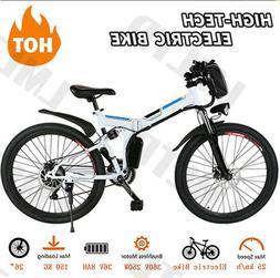 Ancheer 250/350W Power Plus Electric Mountain Bike 26/25/12'