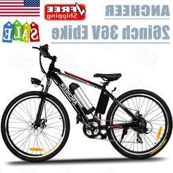 """ANCHEER 250W 26"""" E-Bike Motor Power Plus Electric Mountain B"""