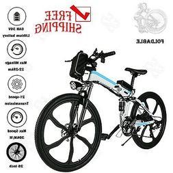 250W 26in Folding E-Bike Electric Bicycle Mountain Bike 8Ah
