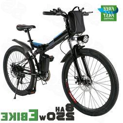 "250W Electric Bicycle Mountain Bike 26"" Wheel Folding City E"