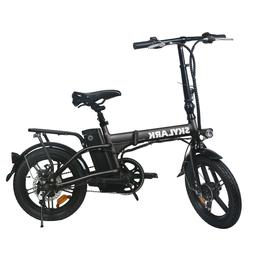 NAKTO 250W Folding Electric Bike 16'' 36V 10Ah Battery 15/Mp