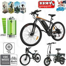 """26"""" 14'' Electric Bike Folding Mountain Bicycle With 8A Lith"""