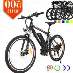 """ANCHEER 26"""" 250W Power Plus Electric E-Mountain Bike Shimano"""