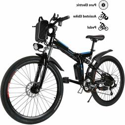 VIVI 26'' 350W Electric Bike Folding Mountain Bicycle 21Spee