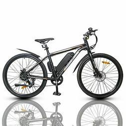 "26"" 36V 350W Black Electric City Bicycle e-Bike Shimano 7 sp"