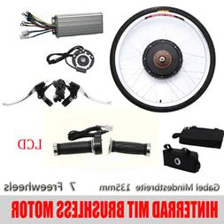 "26"" 48V 1000W LCD Rear Wheel Motor Bicycle Hub Electric E Bi"