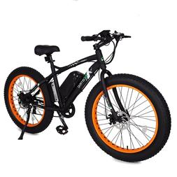 "26"" 500W 12AH Orange Fat Tire Electric Bicycle Mountain Snow"