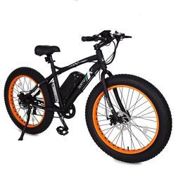 "26"" 500W 12AH Orange Fat Tire Electric Bicycle Mountain Snow"