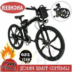 Ancheer 26'' EBike Electric Bike Mountain Bicycle City Cycli
