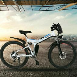 """ANCHEER 26"""" Electric Bike E-Bike Folding Mountain Bicycle Sh"""