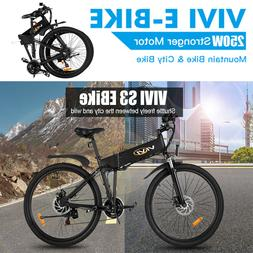 26'' Electric Bike Mountain Bicycle Adult City EBike Folding