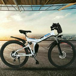 26'' Electric Bike Mountain Bicycle City Folding EBike With