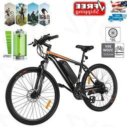 26'' Electric Bike Mountain Bicycle E-bike 350W Removable Li