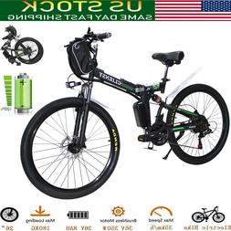 """CLIENSY 26"""" Folding Electric Bike City Mountain Cycling EBik"""