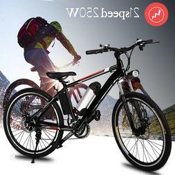 "26"" Electric Mountain Bike Bicycle Ebike W/Lithium Battery 2"