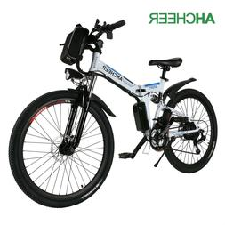 "ANCHEER 26""Foldable Electric Bike 250W Power Ebike Bicycles"
