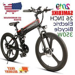 "Lixada 26""Folding Electric Bike Assist E-Bike Conjoined Rim"