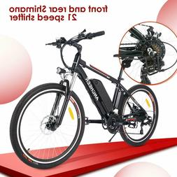 26 inch Ancheer Electric Bike 500W US Upgrade  E-Bike Mounta