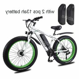 26-Inch Electric EBike Snow/Beach 13Ah Battery, 27 Speeds