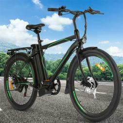 26IN Electric Bike Mountain Bicycle EBike Men Variable Speed