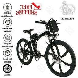 26in Folding E-Bike 250W 36V Power Electric Mountain Bicycle
