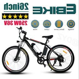 26INCH Electric Bike Mountain Bicycle Damping Ebike Cycling