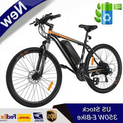 26INCH Electric Bike Mountain Bicycle EBike ANCHEER 21Speed
