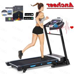 ANCHEER 3.25HP Folding Treadmill Electric Automatic Incline