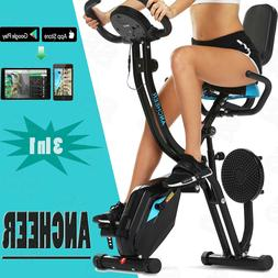 Ancheer 3-in-1 Folding Upright Exercise Bike Weight loss Hea