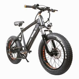 "NAKTO 350W Electric Bike 20"" Fat Tire Electric Bikes 6-Speed"