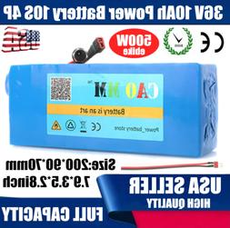 36V 10Ah Lithium li-ion Battery Pack 500W ebike  BMS Bicycle