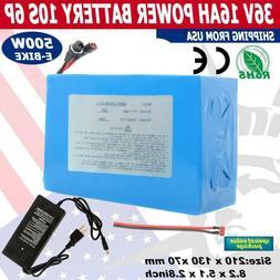 36V 16Ah Lithium li-ion Battery Pack 500W ebike Bicycle E Bi