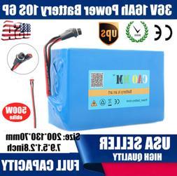 36V16Ah Lithium li-ion Battery Pack 500W ebike BMS Bicycle E