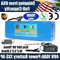 48V 10Ah Lithium Li-ion Battery Ebike Electric Bicycle E-Bik