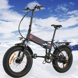 500W 20INCH Folding Electric Bike Beach,Snow EBike Fat -Tire